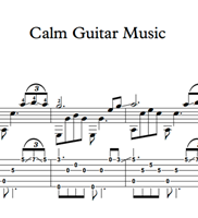 Picture of Calm Guitar Music Sheet Music & Tabs
